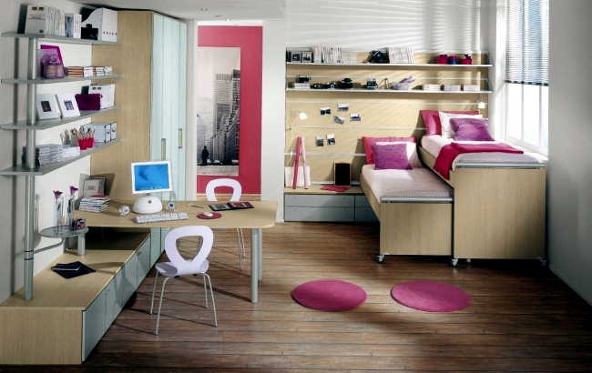 Girls make full room - 26 ideas, furniture and themes