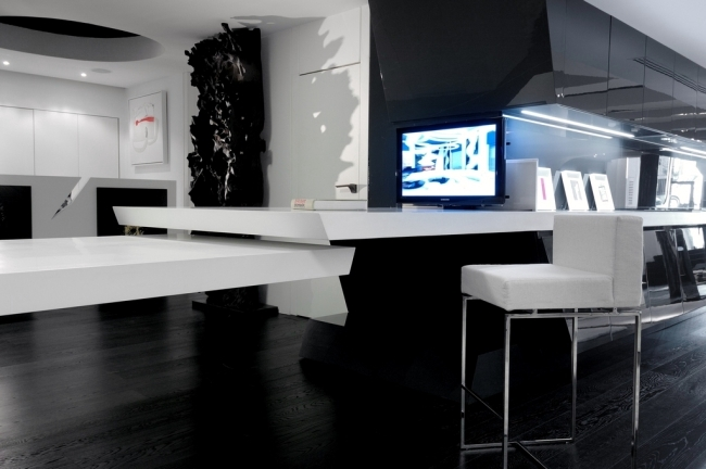 Gloss lacquered kitchens from A-Cero - Exciting design futuristiches