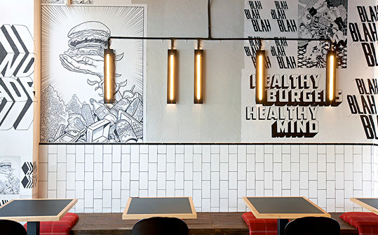 Graphic identity for a restaurant burgers