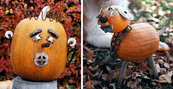 Great decoration crafts from scrap - creative ideas for Halloween pumpkins