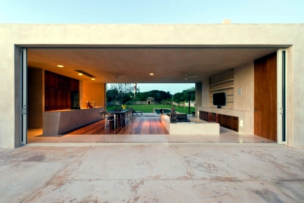Hacienda with modern minimalist design in Yucatan, Mexico