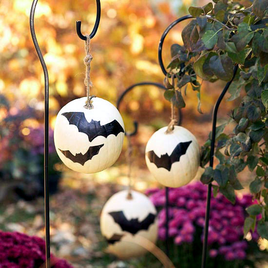 Halloween pumpkins painted - 22 light decoration ideas for making your own