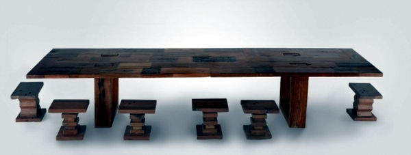 Handcrafted solid wood furniture - rustic charm for the interior