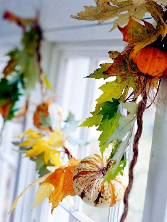 Herbstdeko make yourself - 26 effective ideas with natural materials