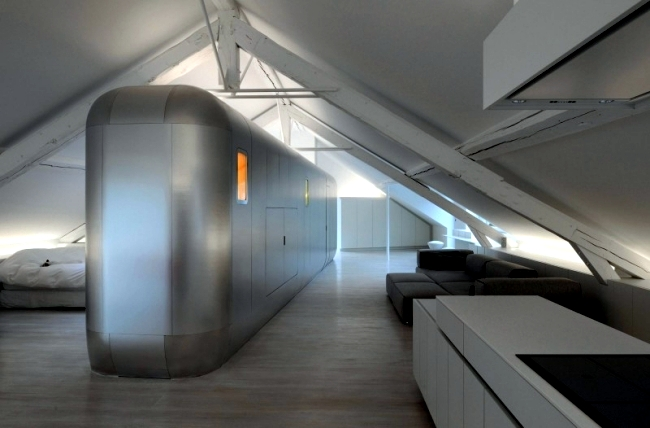 Very simple kitchen design ideas - Hi Tech Loft Apartment In Belgium Kempart Loft Of Dethier