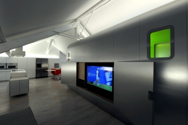 Hi-tech loft apartment in Belgium Kempart loft of Dethier Architecture