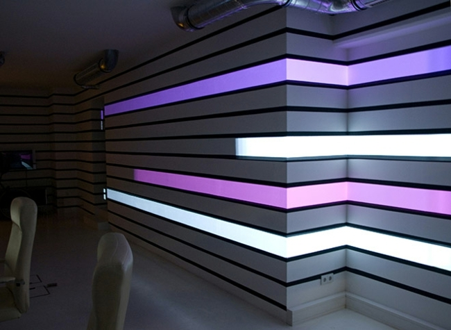 Hi Tech Wall Lighting With Videprojektoren The