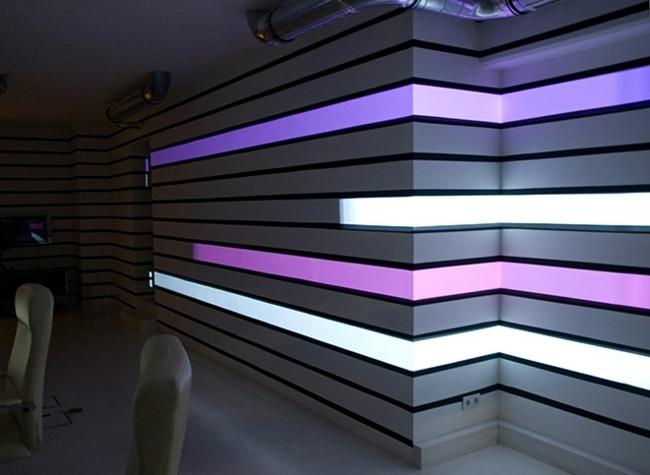 Wall Effects Design : Hi tech wall lighting with videprojektoren the