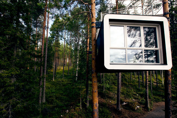 Hotel in trees