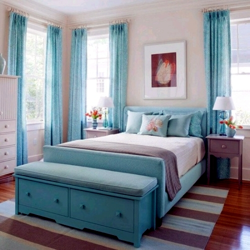 Ideas for bedroom interior mint freshen the interior