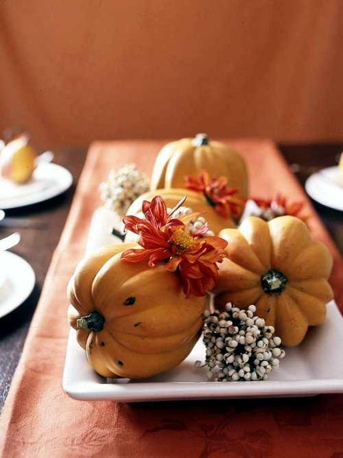 Ideas for fall decorating with elements for the season