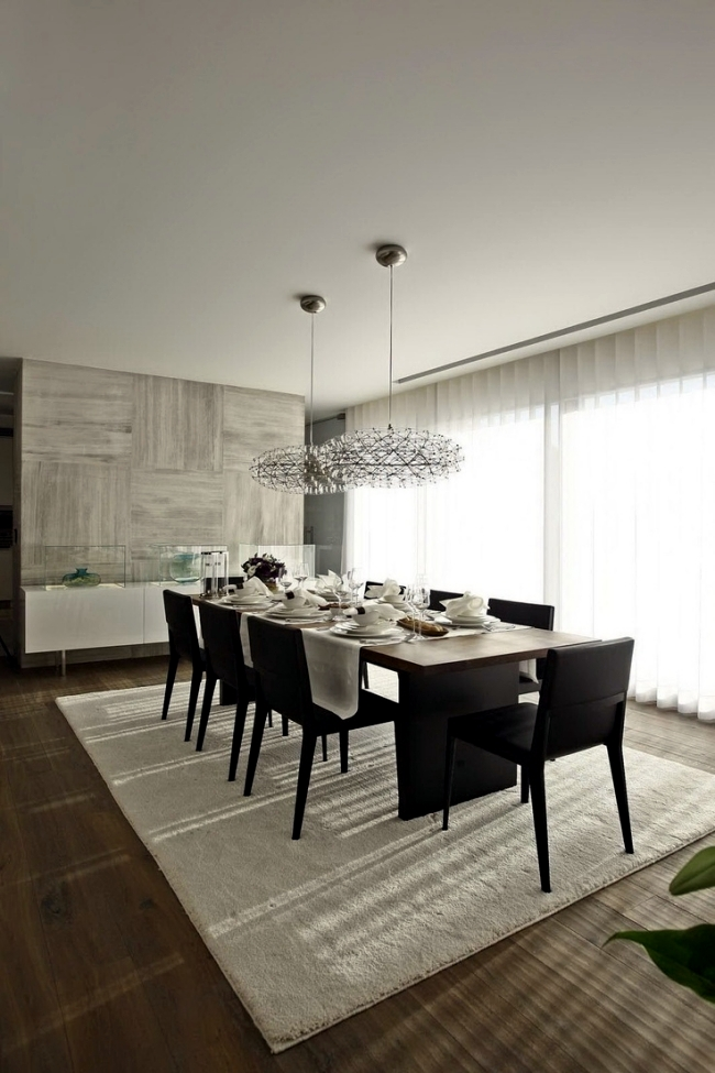 Ideas for pendant lights in the dining room - 20 eye-catcher in the living area