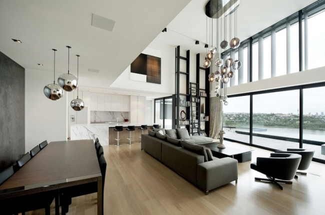lights installation over table pendant and modern home design dining