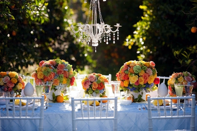 Ideas for summer wedding table decoration with colorful ...