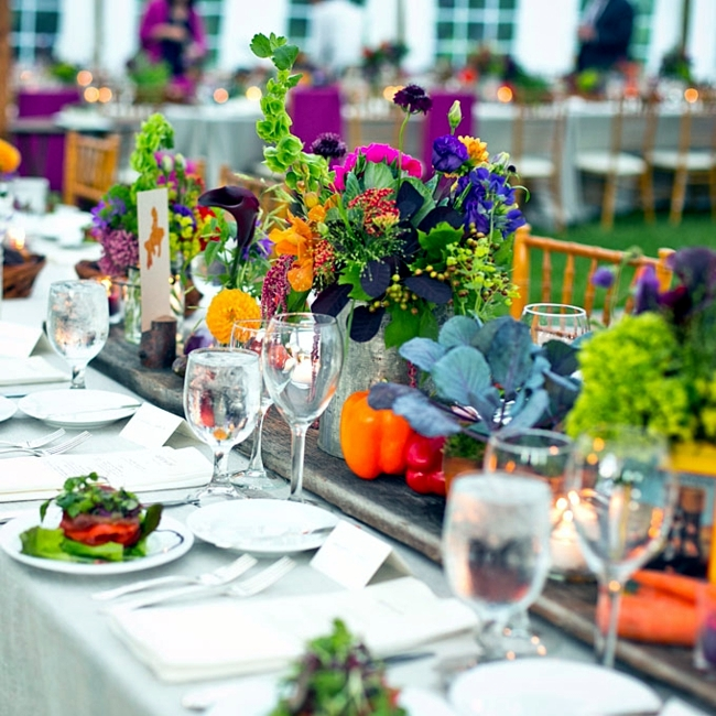 Summer Wedding Centerpiece Ideas: Ideas For Summer Wedding Table Decoration With Colorful