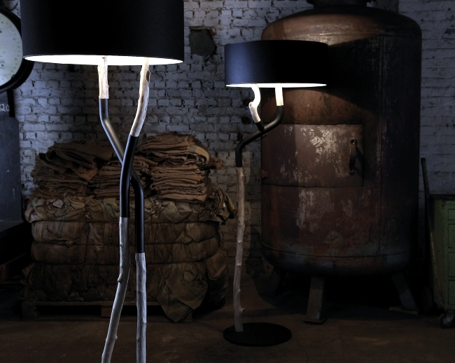 Impressive driftwood lamps from Bleu Nature with a rustic flair