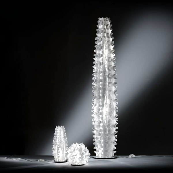 Indirect lighting inspired by nature - the cactus lamps