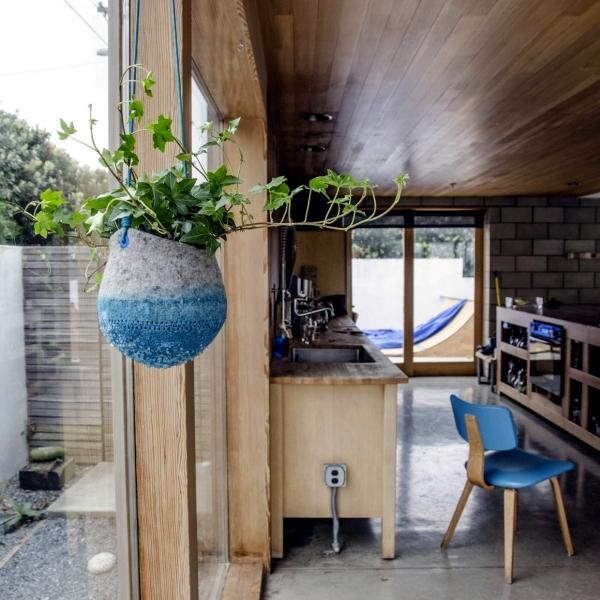Innovative crystal planter for hanging Maria Bujalska
