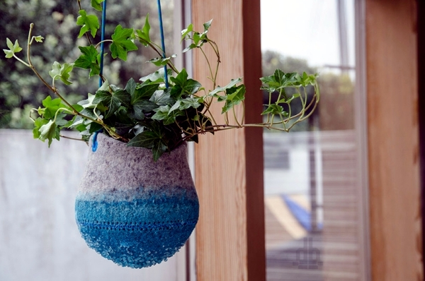 Innovative crystal planter for hanging Maria Bujalska