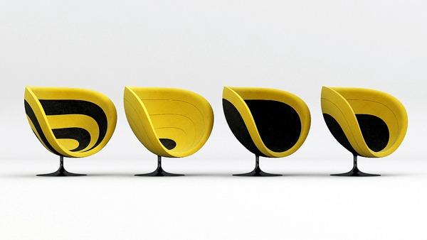Innovative designer Poltrona Armchair Pink improves room acoustics