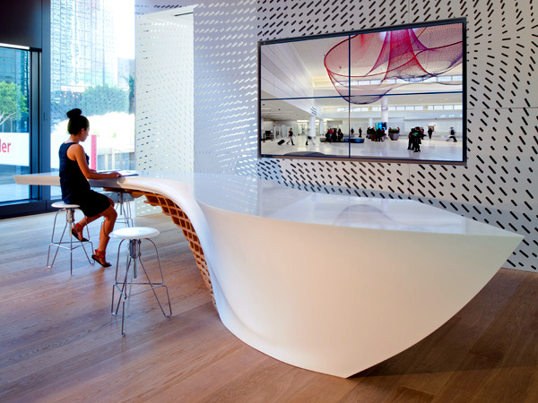 Innovative table design for reception room interior for Innovative dining table designs