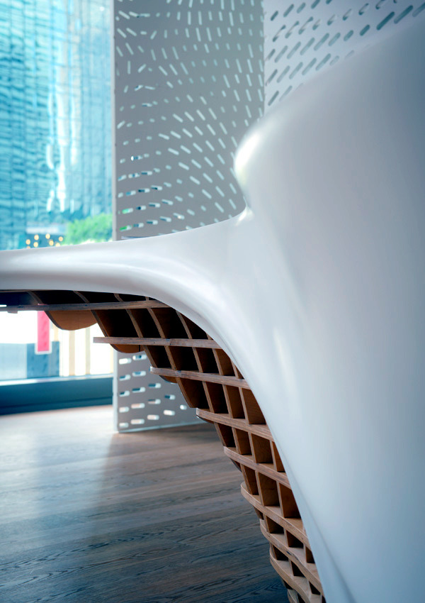Innovative table design for reception room