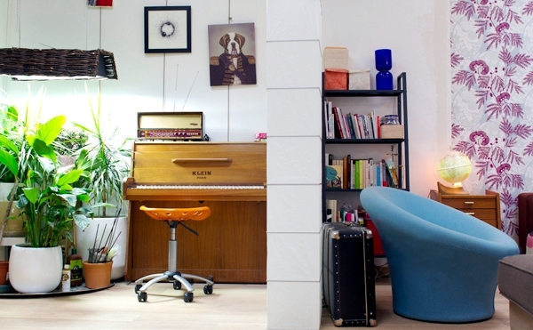home interior green