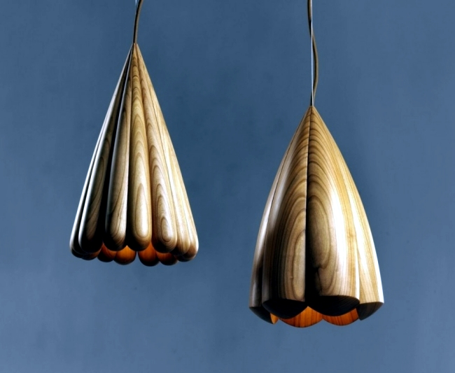 Inspired fine designer lamps, wooden sea creatures from the Teifen