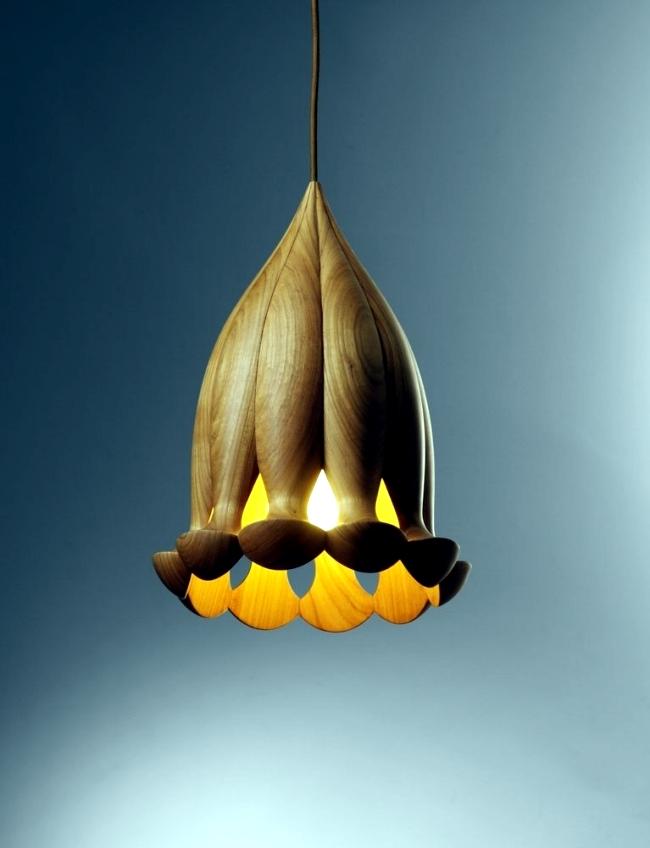 Inspired fine designer lamps, wooden sea creatures from the Teifen