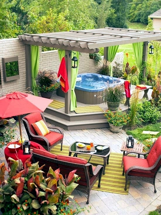 These 25 Fresh Ideas For Garden Spa Will Help You Draw The Design Of Your  Patio. The Hot Tub In The Garden, You Can Set Up Many Different Ways.