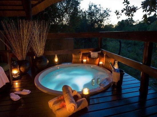 Install The Hot Tub In The Garden 25 Ideas To Make The