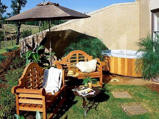 Install The Hot Tub In Garden 25 Ideas To Make