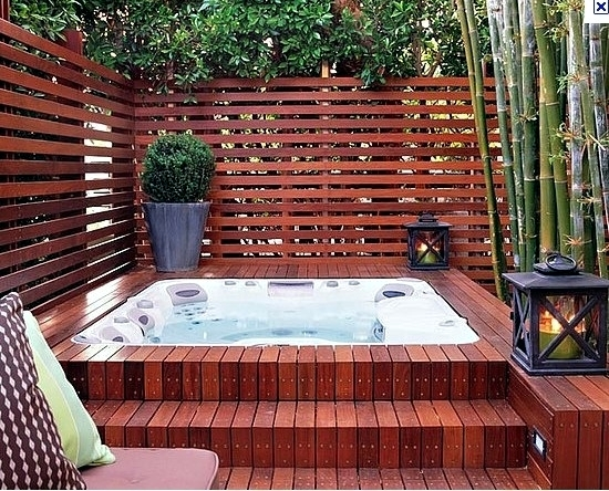 Install The Hot Tub In Garden 25