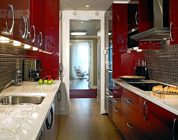 Interior design with color - skillfully put vibrant red accents