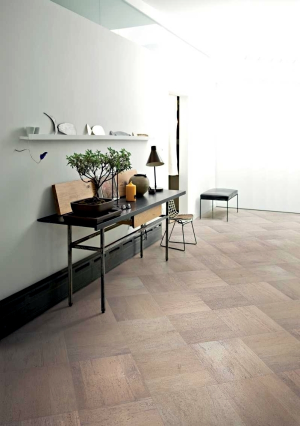 Italian ceramic floor tiles in wood design alternative to hardwood