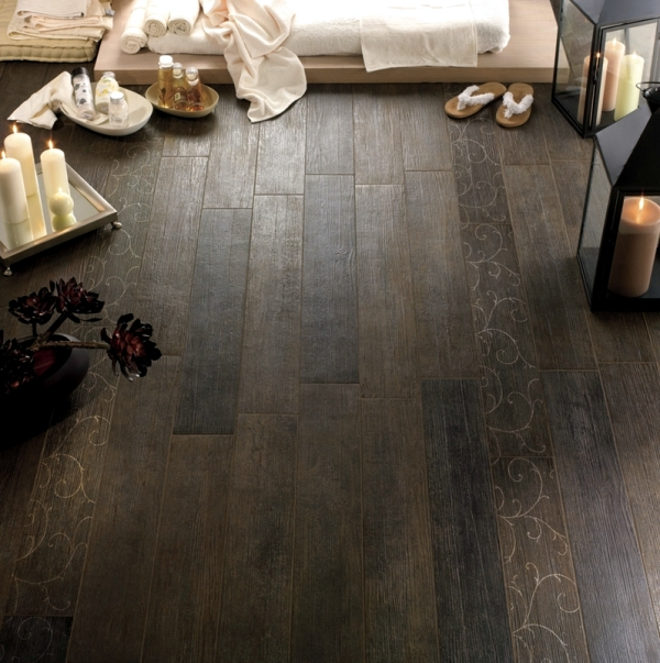 Italian ceramic floor tiles in wood design alternative to hardwood ...