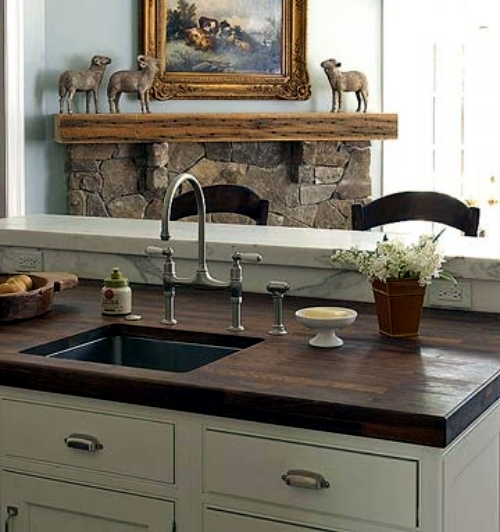 Walnut Is Certainly An Appropriate Choice For The Work Plan Wooden Kitchen,  If You Want To Put On A More Solid Design. The Walnut Wood Is Classic And  Gives ...