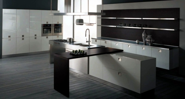 Kitchen design - the mysterious charm of the dark colors