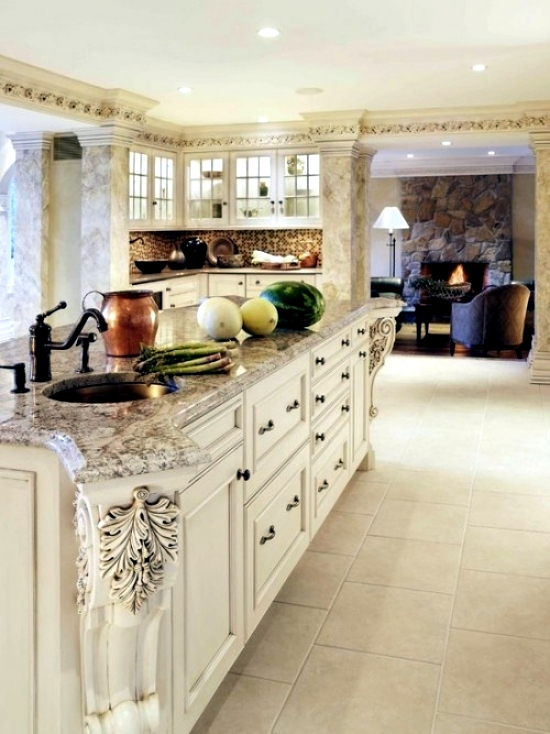 Kitchen granite worktops - 16 design ideas for the kitchen