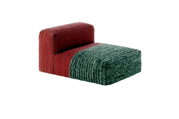 Knitted modular furniture Gan convey a homely atmosphere
