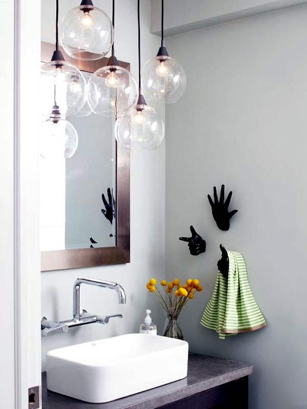 Lamp in the bathroom - moisture protection, installation and material selection