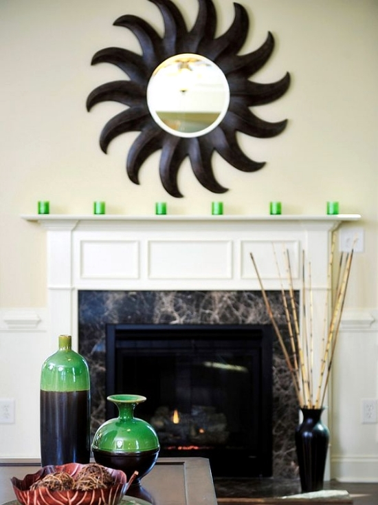 Let the mantelpiece in the summer look good - decoration ideas for fireplace