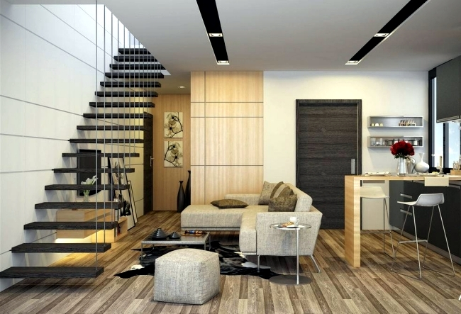 Living room and kitchen in one space – 20 modern design ...