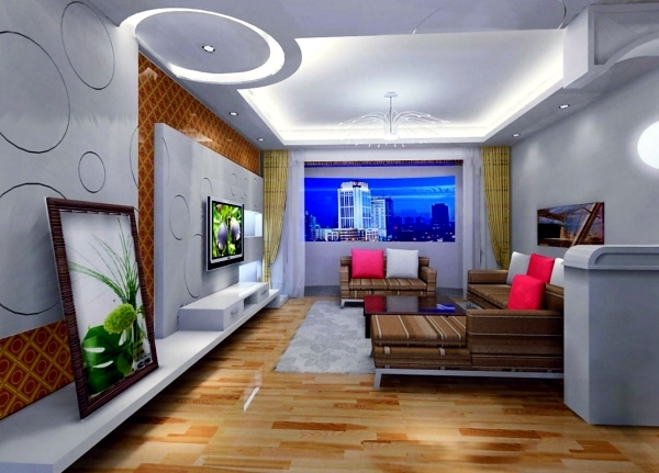 Living room ceiling design let the new light room for Living room designs pop