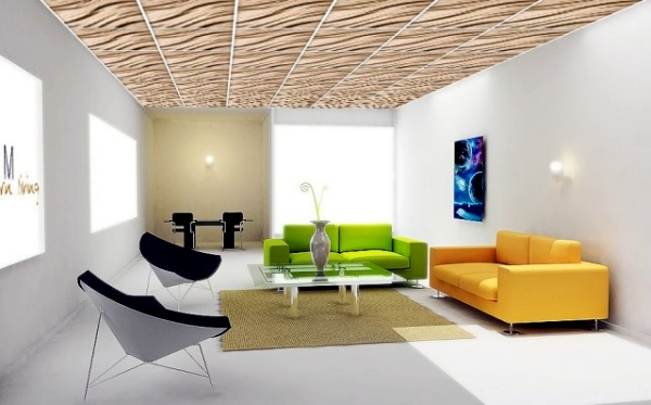 Living room ceiling design, let the new light room