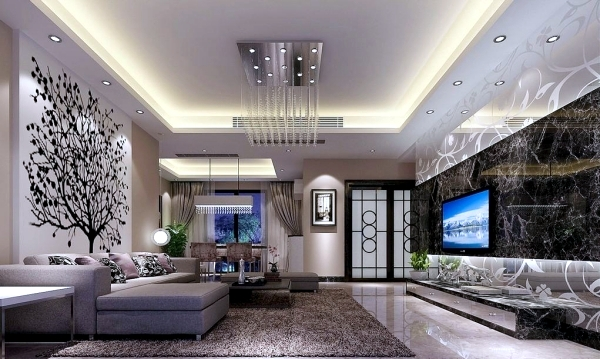 High Quality Living Room Ceiling Design, Let The New Light Room