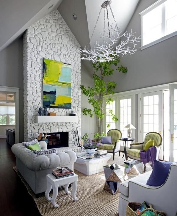 Living room ceiling design, let the new light room