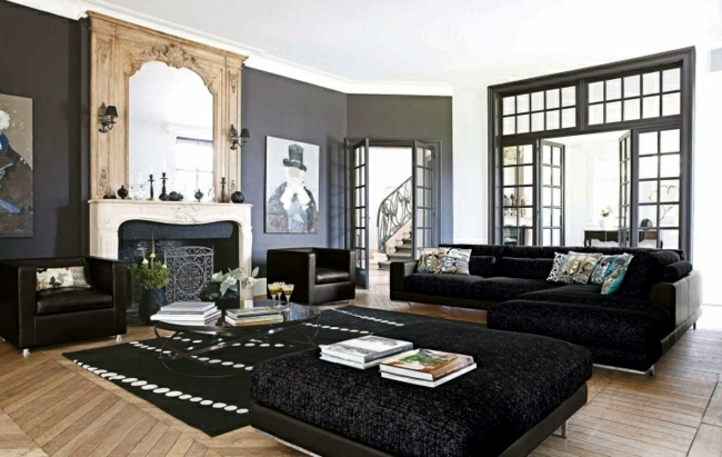 Living room furniture combine - exquisite color and style mix