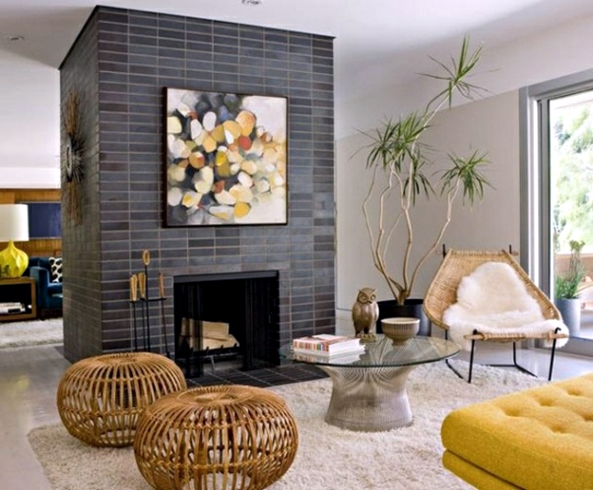 Living room with fireplace design – 33 ideas for warmth and ...