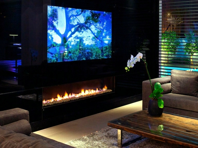 Living room with fireplace design - 33 ideas for warmth and comfort